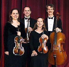 The Woodvale String Quartet:  Lisa Kempskie, Robert Curtis, Lynne Canavan, Roger Kimball
